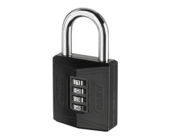 ABUS Mechanical 158/50 50mm Combination Padlock (4-Digit) Die Cast Body Carded ABU15850C