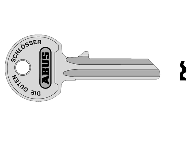 ABUS Mechanical 36/55 55mm Right Hand Key Blank ABUKB00835