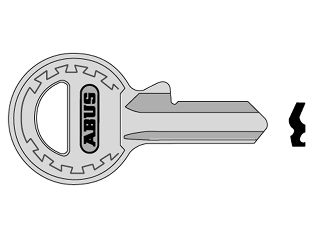 ABUS Mechanical 65/20 20mm New Profile Key Blank ABUKB11405