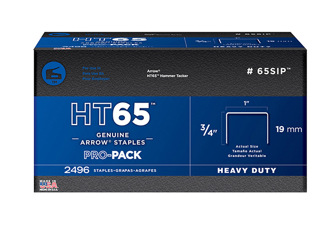 Arrow HT65S Staples 19mm (3/4in) Pack 600 ARRHT6534