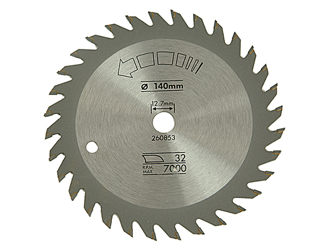 Black & Decker Circular Saw Blade 140 x 12.7mm x 32T Fine Cross Cut B/DX13005