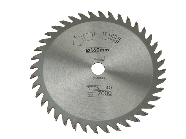Black & Decker Circular Saw Blade 160 x 16mm x 40T Fine Cross Cut B/DX13105