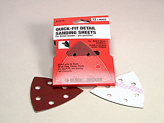 Black & Decker X32437 Detail Sanding Sheets Very Fine 240G (Pack 5) B/DX32437