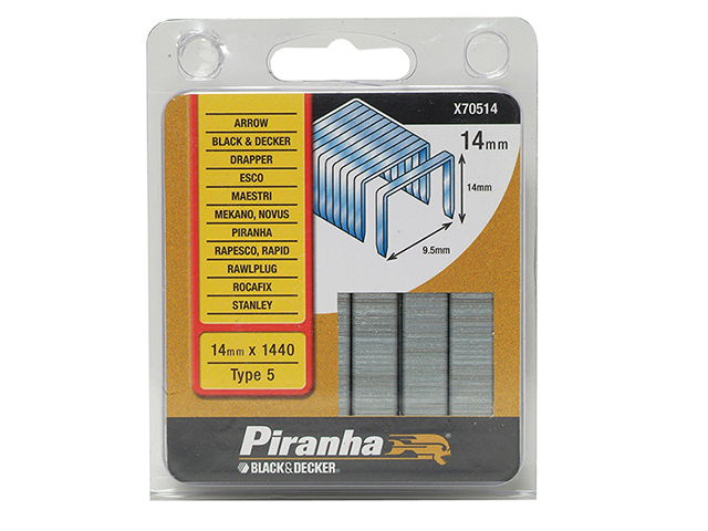 Black & Decker X70514 Flat Wire Staples 14mm Pack 1440 B/DX70514