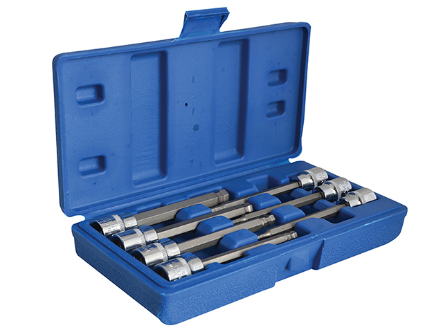 BlueSpot Tools 3/8in Drive Extra Long Hex Ball Socket Bit Set, 7 Piece B/S01510