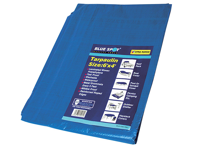 BlueSpot Tools Tarpaulin 1.8 x 1.2m  (6 x 4ft) B/S45921