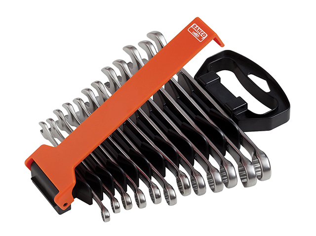 Bahco Chrome Polished Combination Spanner Set, 12 Piece BAH111MSET12