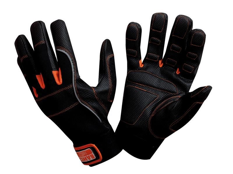Bahco Power Tool Padded Palm Gloves - Large (Size 10) BAHGL01010