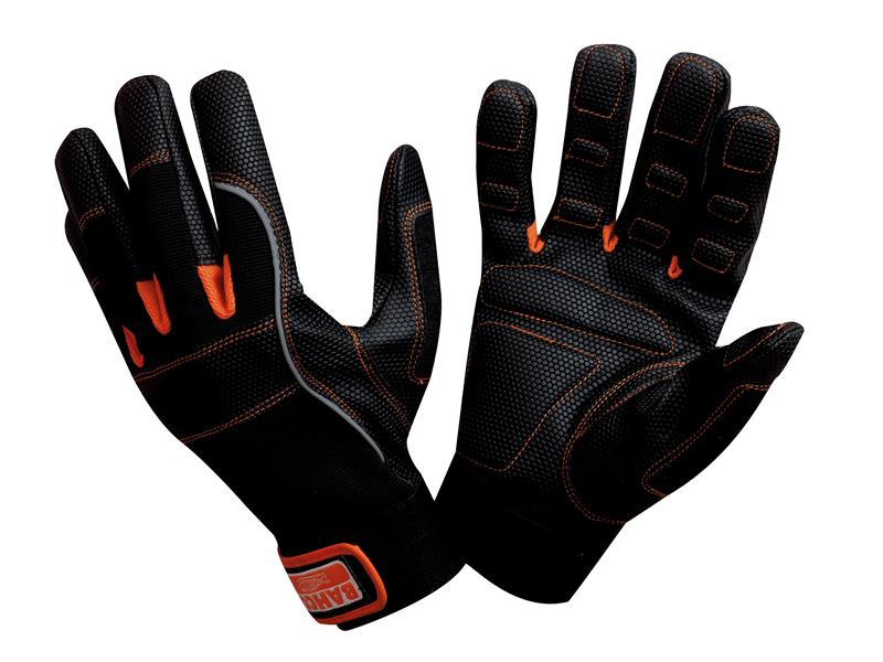 Bahco Power Tool Padded Palm Gloves - Medium (Size 8) BAHGL0108