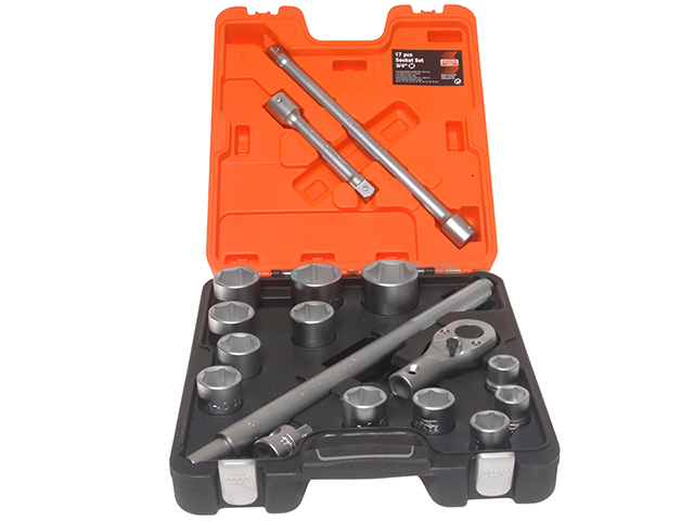 Bahco SLX17 Socket Set of 17 Metric 3/4in Drive BAHSLX17