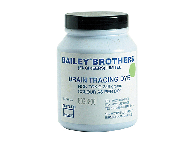 Bailey 3589 Drain Tracing Dye - Green BAI3589