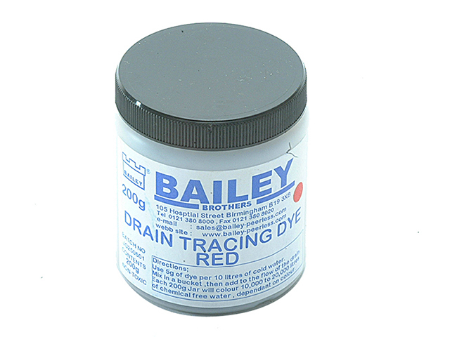 Bailey 3590 Drain Tracing Dye - Red BAI3590