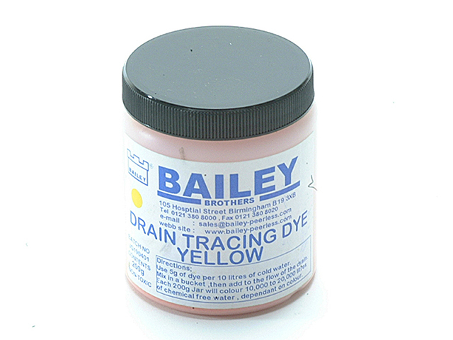Bailey 3591 Drain Tracing Dye - Yellow BAI3591