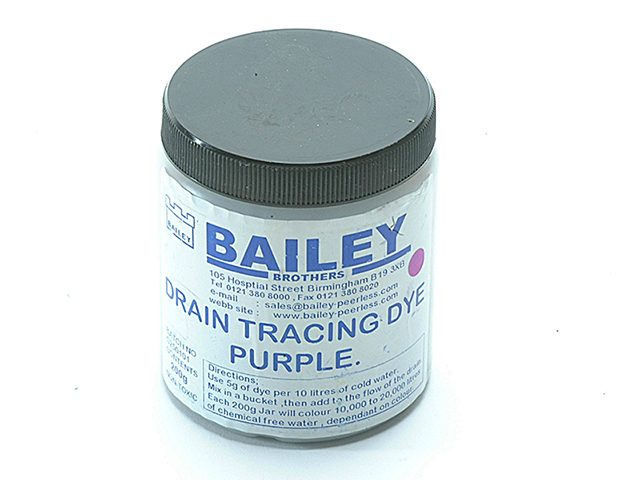 Bailey 3592 Drain Tracing Dye - Purple BAI3592