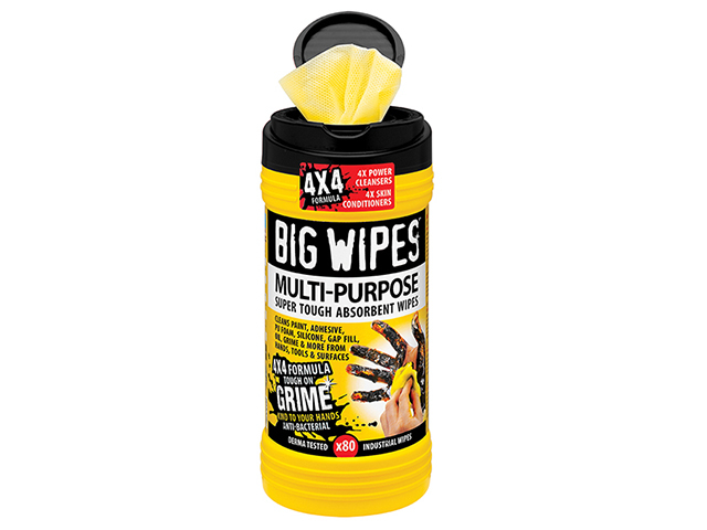 Big Wipes 4x4 Multi-Purpose Cleaning Wipes Tub of 80 BGW2410