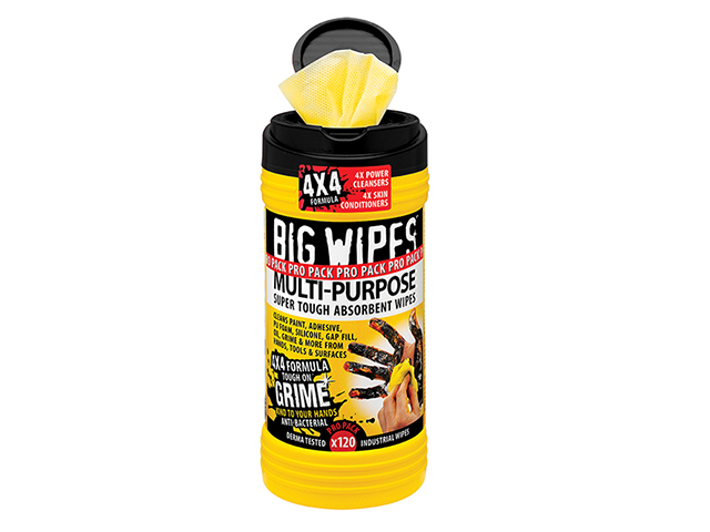 Big Wipes 4x4 Multi-Purpose Cleaning Wipes Tub of 120 BGW2412