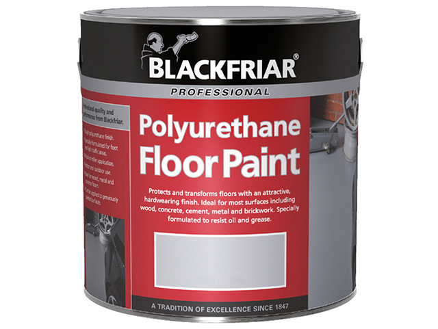 Blackfriar Professional Polyurethane Floor Paint Tile Red 1 Litre BKFPFPTR1L