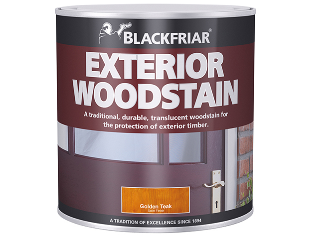 Blackfriar Traditional Exterior Woodstain Golden Teak 1 litre BKFTEWSGT1L