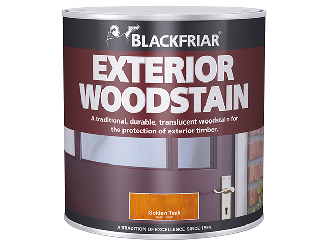 Blackfriar Traditional Exterior Woodstain Golden Teak 500ml BKFTEWSGT500