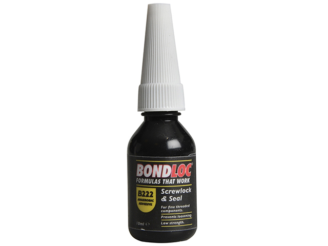 Bondloc B222 Screwlock Low Strength Threadlocker 10ml BONB22210