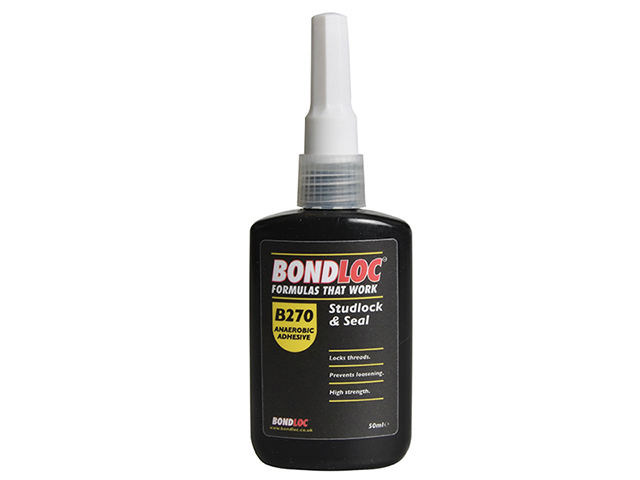 Bondloc B270 Studlock High Strength Threadlocker 50ml BONB27050