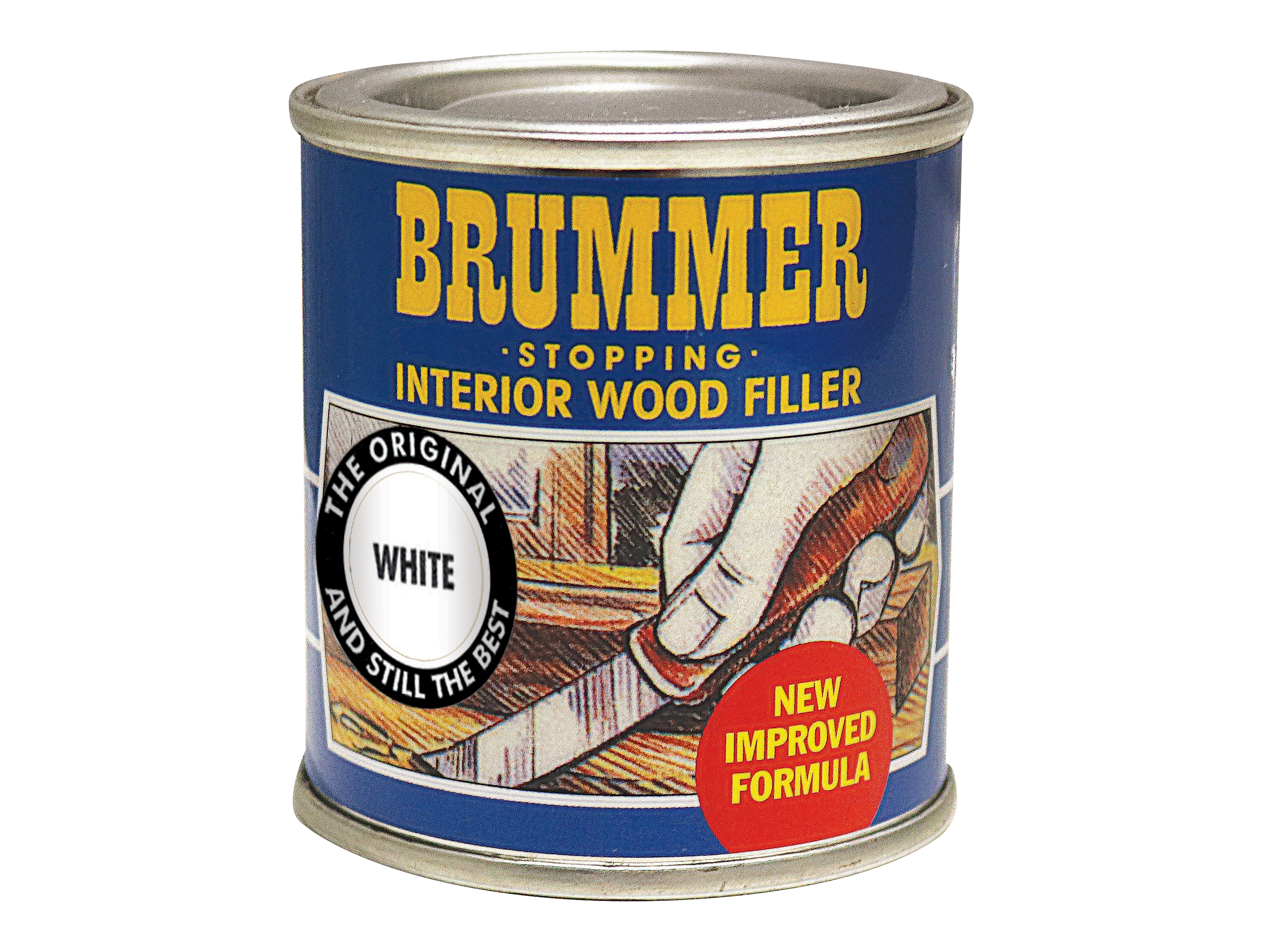 Brummer Interior Wood Filler White 250g BRUINTWH250