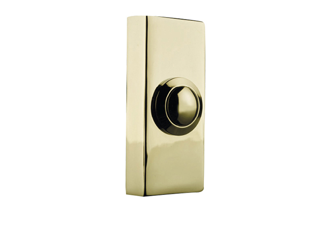 Byron 2204 Wired Doorbell Additional Chime Bell Push Brass BYR2204