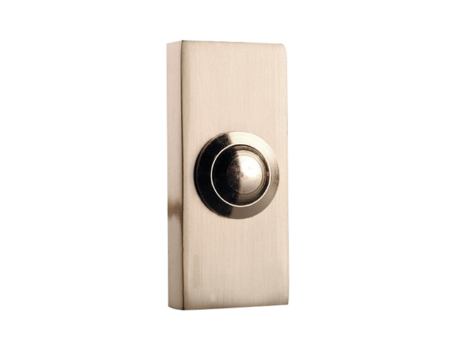 Byron 2204BN Wired Doorbell Additional Chime Bell Push Brushed Nickel BYR2204BN