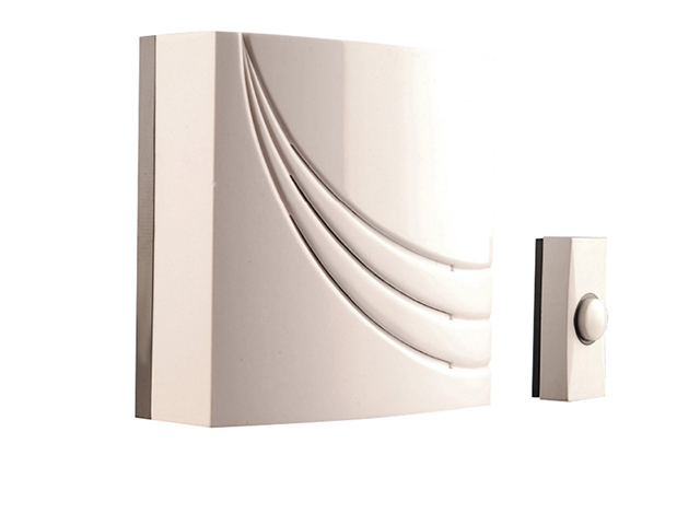 Byron 761 Wired Wall Mounted Electronic Doorbell with 8 Melodies BYR761