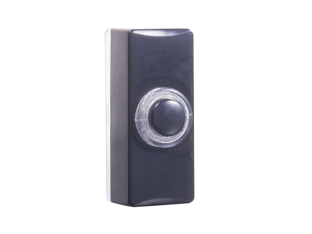 Byron 7720 Wired Doorbell Additional Illuminated Chime Bell Push Black BYR7720