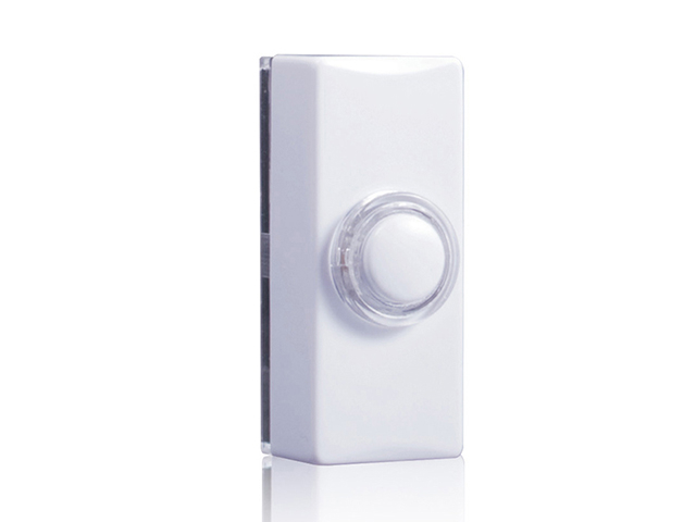 Byron 7730 Wired Doorbell Additional Illuminated Chime Bell Push White BYR7730