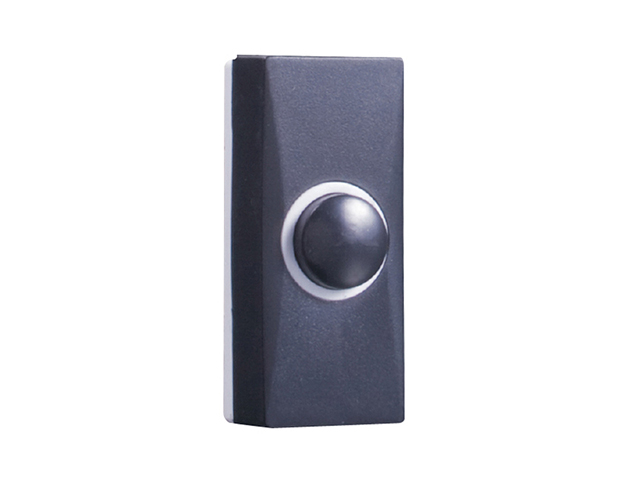 Byron 7900 Wired Doorbell Additional Chime Bell Push Black BYR7900