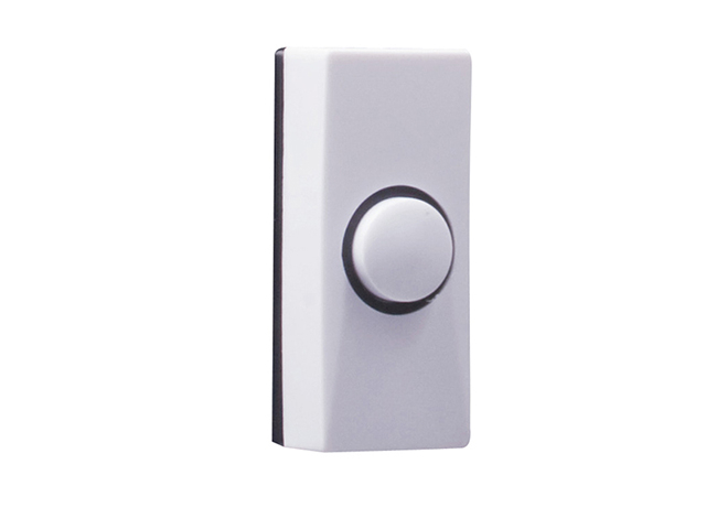 Byron 7910 Wired Doorbell Additional Chime Bell Push White BYR7910