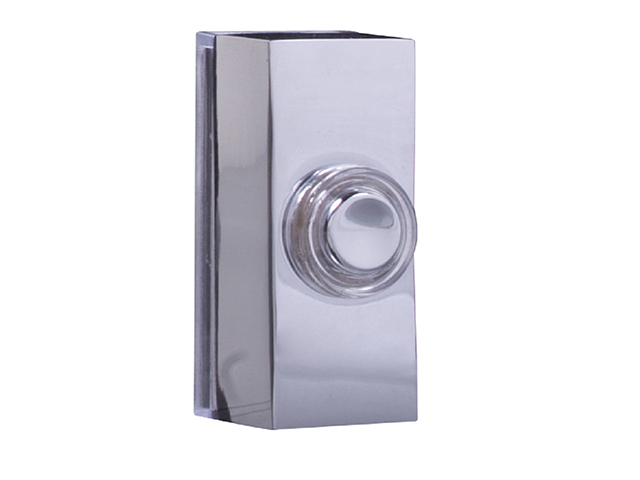 Byron 7960C Wired Doorbell Additional Chime Bell Push Chrome BYR7960C