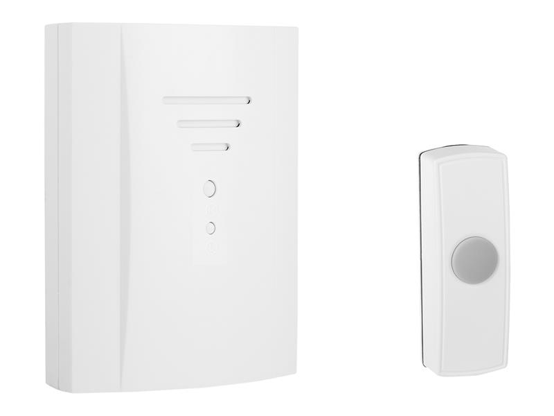 Byron B305 Wireless Doorbell with Plug In Chime 50m BYRB305