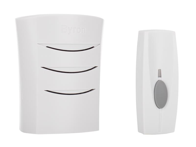 Byron BY102 Wireless Doorbell with Plug In Chime 60m BYRBY102
