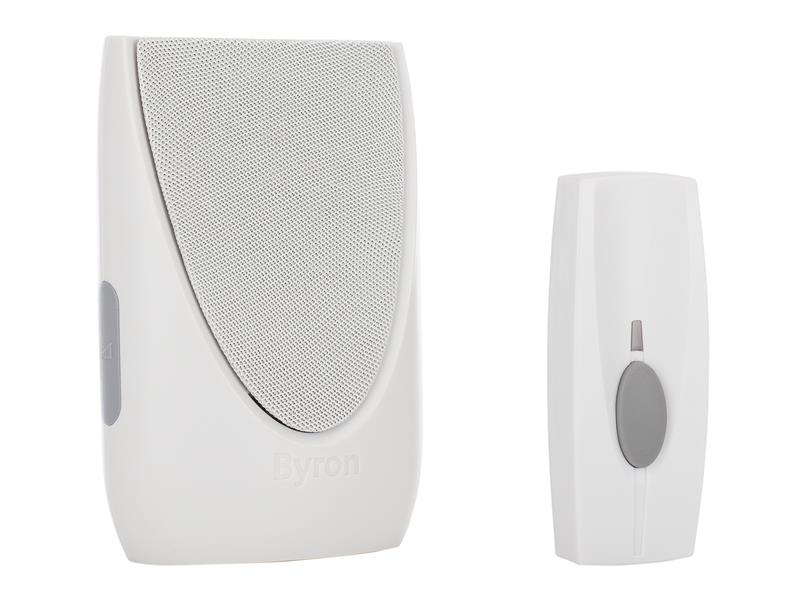 Byron BY202 Wireless Doorbell with Plug In Chime 100m BYRBY202