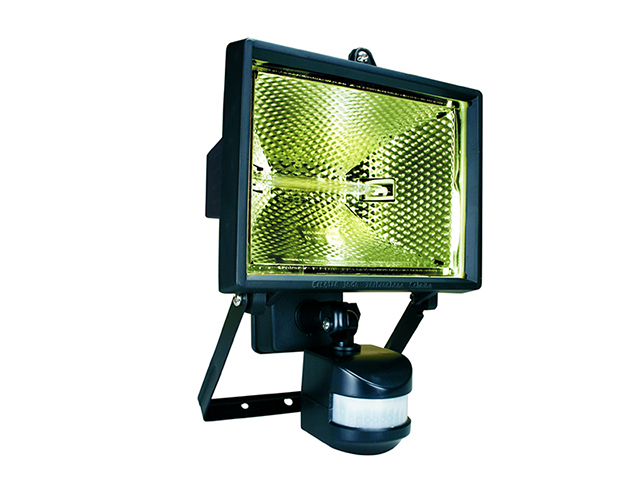 Byron ES400 Halogen Floodlight with PIR Black 400 Watt BYRES400