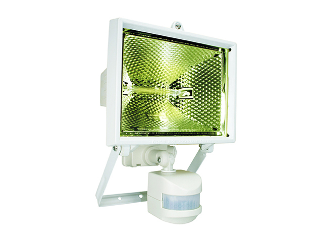 Byron ES400W Halogen Floodlight with PIR White 400 Watt BYRES400W