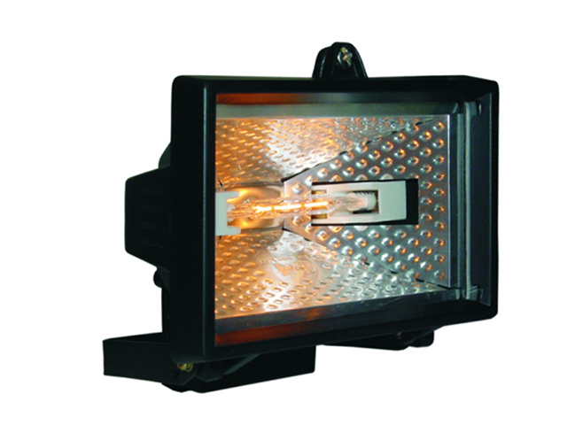 Byron HL120 Halogen Floodlight Black 120 Watt BYRHL120