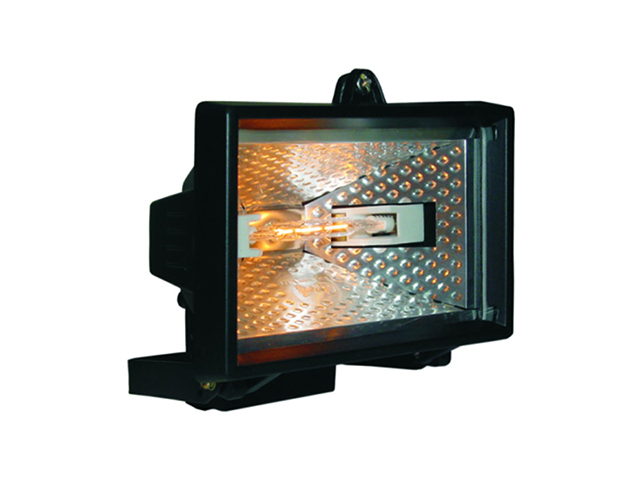 Byron HL400 Halogen Floodlight Black 400 Watt BYRHL400