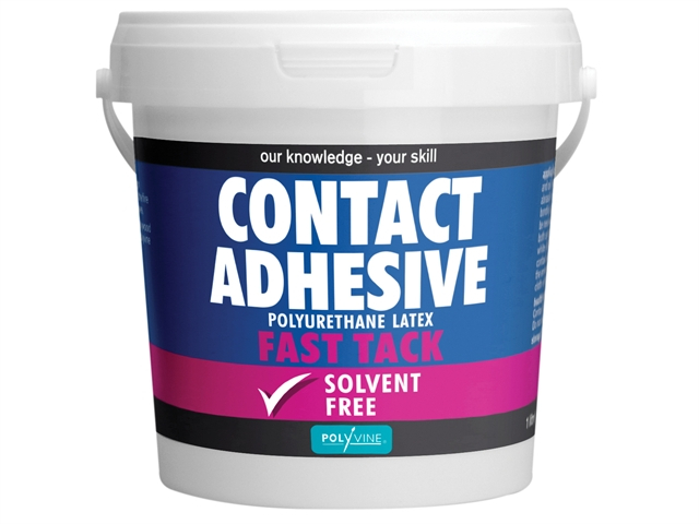 Polyvine Contact Adhesive Solvent-Free Fast Tack 1 Litre CASCA1L