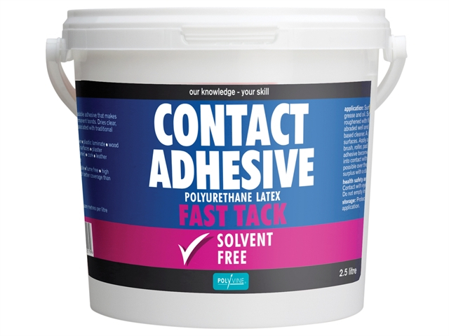 Polyvine Contact Adhesive Solvent-Free Fast Tack 2.5 Litre CASCA25L
