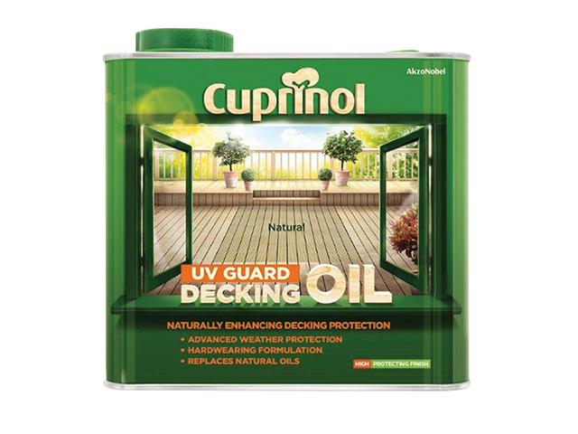 Cuprinol UV Guard Decking Oil Natural 2.5 Litre CUPDON25L