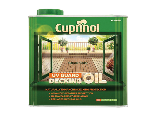Cuprinol UV Guard Decking Oil Natural Cedar 2.5 Litre CUPDONC25L