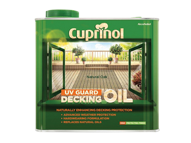 Cuprinol UV Guard Decking Oil Natural Oak 2.5 Litre CUPDONO25L