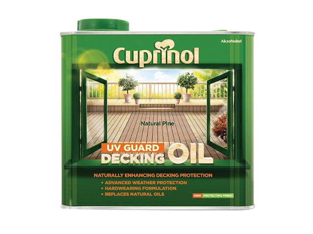 Cuprinol UV Guard Decking Oil Natural Pine 2.5 Litre CUPDONP25L