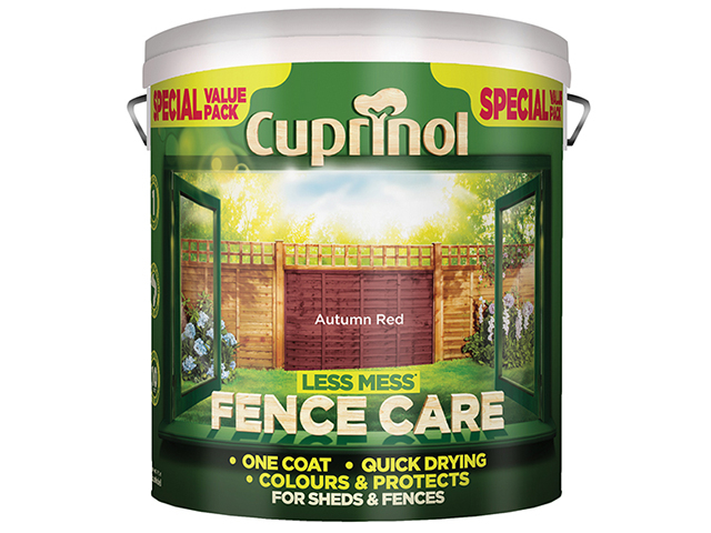 Cuprinol Less Mess Fence Care Autumn Red 6 Litre CUPLMFCAR6L