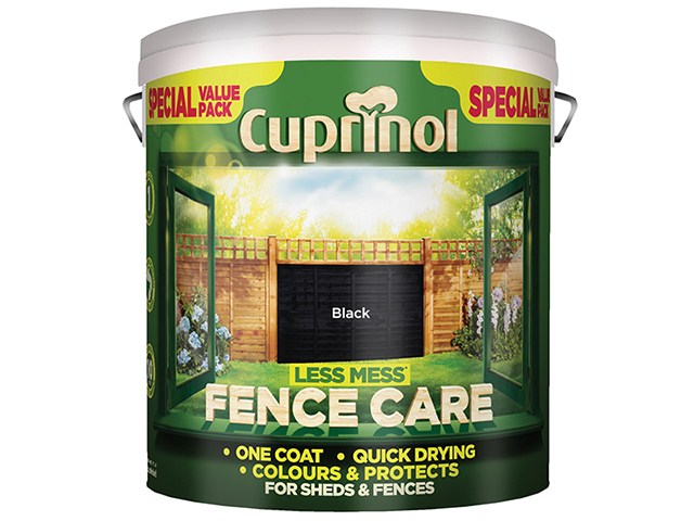 Cuprinol Less Mess Fence Care Black 6 Litre CUPLMFCBL6L
