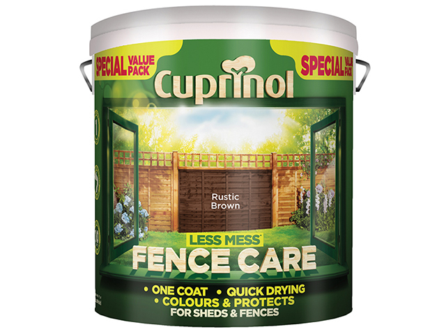 Cuprinol Less Mess Fence Care Rustic Brown 6 Litre CUPLMFCRB6L